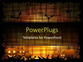 Slide deck featuring pumpkins and bats on the dark-orange color