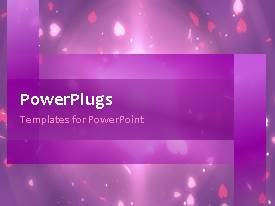 Elegant presentation theme enhanced with a purple background with a bullet point and place for text