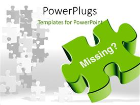 PPT theme having a puzzle piece with a number of others in the background