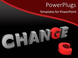 Presentation theme featuring red letter G in gray word Change next to red letter C