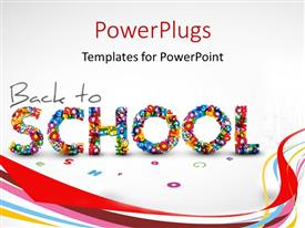 Presentation theme enhanced with a representation of back to school with white background