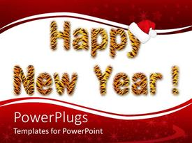 Elegant presentation enhanced with the representation of happy new year with reddish background