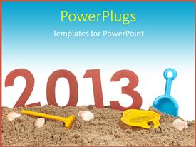Elegant theme enhanced with a representation of the new year 2013