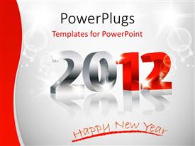 Amazing theme consisting of a representation of the new year with white background