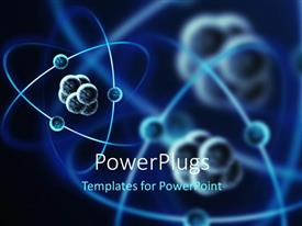 Beautiful PPT theme with the representation of various atomic structures