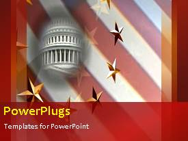 Beautiful presentation theme with the representation of the White house