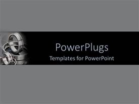 5000 manufacturing powerpoint templates w manufacturing themed theme consisting of round silver steels on a black and grey background template size toneelgroepblik Images