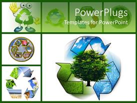 Theme enhanced with save nature, go green with a process of recycling