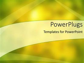 Amazing PPT theme consisting of a shiny yellowish background with place for text