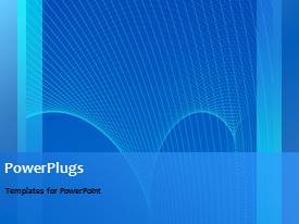 PPT theme featuring a short video of an abstract blue  colored  background