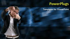 PPT theme featuring a short video of an abstract colored background - widescreen format
