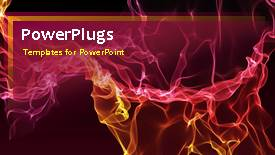 PPT theme having a short video of an abstract fiery wine colored background - widescreen format