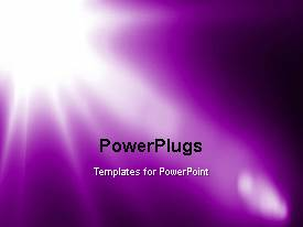 Beautiful PPT theme with a short video of an abstract purple colored background