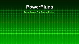 Beautiful PPT theme with a short video showing an abstract of electric lines on a green background - widescreen format