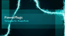 PPT theme featuring a short video showing an abstract of some electric lines - widescreen format