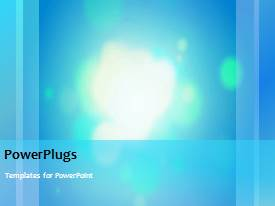 PPT theme enhanced with a short video showing an abstract of lights on a blue background