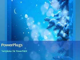 Presentation design consisting of a short video showing snow falling on a blue background