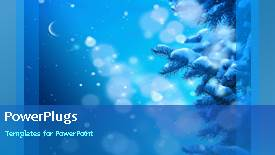 Beautiful presentation theme with a short video showing snow falling on a blue background - widescreen format
