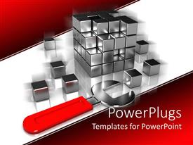 Slide deck featuring silver colored rubix cubed taken a