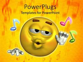 5000 music powerpoint templates w music themed backgrounds presentation consisting of a smiley along with various music figures and yellow background template size toneelgroepblik Images