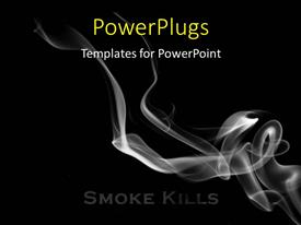 Elegant presentation theme enhanced with smoke flowing over a black background, smoking kills concept