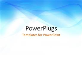 PPT theme enhanced with smooth abstract blue colored waves with white color