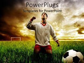 5000 soccer powerpoint templates w soccer themed backgrounds ppt theme featuring soccer player depicting the victory in the ground of life template size toneelgroepblik Images