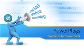 PPT theme with social Media marketing concept with business keywords in background
