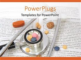 5000 drugs powerpoint templates w drugs themed backgrounds slides consisting of stethoscope pills on book toneelgroepblik Images