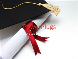 Amazing slide deck consisting of success achievement graduation hat graduation diploma red ribbon  yellow tassel