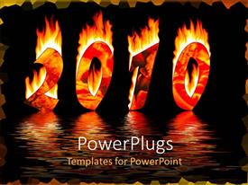 PPT theme enhanced with a text that spells out a burning