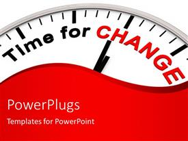 PPT layouts enhanced with time for Change as motivation on a Clock