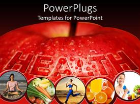 PPT theme with tips to be healthy and active