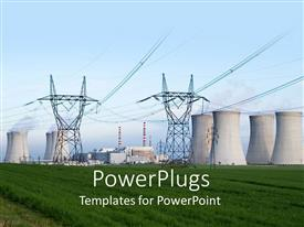 Presentation design featuring tower for Electricity Production