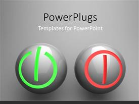 PPT theme enhanced with two balls representing the switch on/off buttons