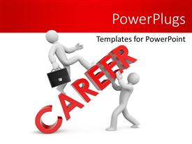 Beautiful slides with two people holding the word career