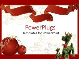 Top invitation powerpoint templates backgrounds slides and ppt themes presentation having two red shinning christmas balls beside a christmas tree toy toneelgroepblik Images