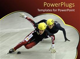 PPT layouts having two sportsman trying to show their skill
