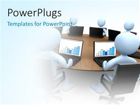 PPT layouts enhanced with various participants in the office and white background