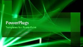 Elegant PPT layouts enhanced with video of abstract rotating green waves in green background - widescreen format