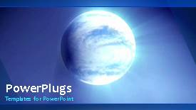 Elegant PPT theme enhanced with video of blue earth globe rotating in blue background