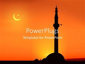 5000 religion islam powerpoint templates w religion islam themed audience pleasing presentation featuring view of a mosque at sunrise toneelgroepblik