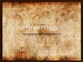PPT layouts consisting of vintage background of old paper with signs of burning or touch of time