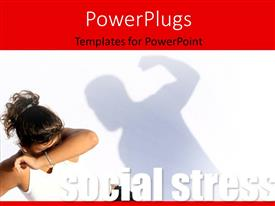 Colorful presentation having violent man hitting frightened woman, social stress concept