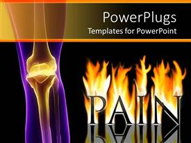 5000 osteoporosis powerpoint templates w osteoporosis themed amazing ppt theme consisting of visualization of painful knee joint and the word pain in flames toneelgroepblik Gallery