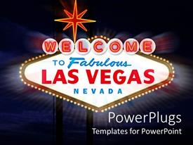 PPT theme featuring welcome Celebration to Las Vegas