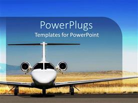 5000 aircraft powerpoint templates w aircraft themed backgrounds ppt theme having white airplane parked at airport blue sky template size toneelgroepblik Choice Image