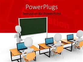 5000 classroom powerpoint templates w classroom themed backgrounds amazing slides consisting of white figure wearing tie standing by chalkboard with pointer in front of template size toneelgroepblik Images