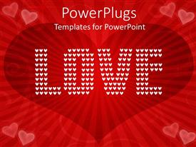 5000 love powerpoint templates w love themed backgrounds presentation theme having wine love shape in background with text love written with white dots toneelgroepblik Gallery