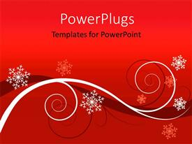Elegant PPT theme enhanced with winter red floral background Christmas greeting card